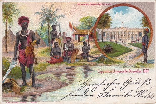 carte postale Expo coloniale 1897